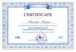 Certificate European Applied Sciences modern approaches in scientific researches
