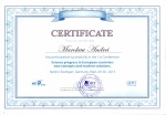 Certificate Science progress in European countries new concepts and modern solutions