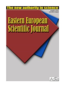 Eastern-European Scientific Journal
