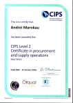 Certificate CIPS Level 2